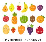 vector collection of cute... | Shutterstock .eps vector #477720895