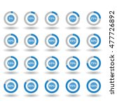 icons template pie graph circle ... | Shutterstock .eps vector #477726892