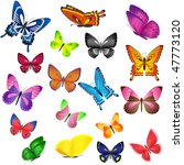 set of different colored... | Shutterstock .eps vector #47773120