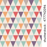 seamless triangle pattern.... | Shutterstock .eps vector #477742096