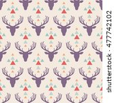 hipster style seamless pattern... | Shutterstock .eps vector #477742102