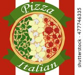 the image of italian pizza with ... | Shutterstock .eps vector #477746335