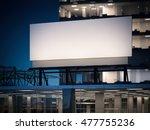 blank billboard standing on a... | Shutterstock . vector #477755236