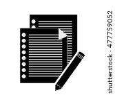 notepad and documents icon