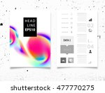abstract template with... | Shutterstock .eps vector #477770275