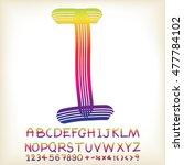 alphabet set design  vector... | Shutterstock .eps vector #477784102