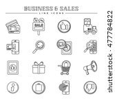 business and sales  line icons... | Shutterstock .eps vector #477784822