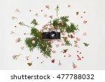 vintage retro photo camera ... | Shutterstock . vector #477788032