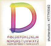 alphabet set design  vector... | Shutterstock .eps vector #477795082