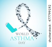 world asthma day concept with a ... | Shutterstock . vector #477799192