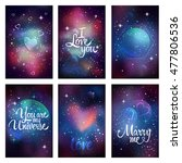 Cosmic Greeting Card. Flyer...