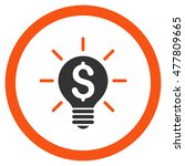 business idea bulb rounded icon....   Shutterstock .eps vector #477809665