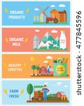 farm infographic elements... | Shutterstock .eps vector #477845596