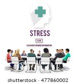 stress depression anxiety... | Shutterstock . vector #477860002
