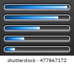 loading bar on a black... | Shutterstock .eps vector #477867172