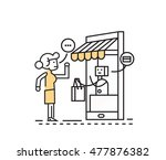 online shopping and consumerism ... | Shutterstock .eps vector #477876382