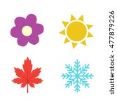 Four Seasons Icon Symbol Vecto...