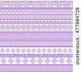 tribal seamless pattern.... | Shutterstock .eps vector #477884728