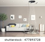 broken ceiling in the room and... | Shutterstock . vector #477893728