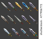collection of decoration weapon ... | Shutterstock .eps vector #477906772