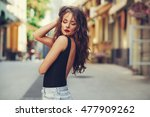potrait of beautiful young... | Shutterstock . vector #477909262