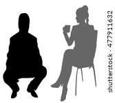 business people sitting and... | Shutterstock .eps vector #477911632