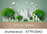 concept of eco with family... | Shutterstock .eps vector #477913042