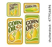 vector logo corn oil  set... | Shutterstock .eps vector #477916696