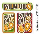 vector logo palm oil  set... | Shutterstock .eps vector #477916912