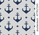 knitted seamless vector anchor...   Shutterstock .eps vector #477917245