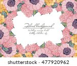 invitation with floral... | Shutterstock .eps vector #477920962