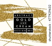 abstract design with gold... | Shutterstock .eps vector #477929632