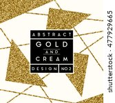 abstract design with gold... | Shutterstock .eps vector #477929665