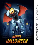 bat vampire  | Shutterstock .eps vector #477933712