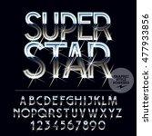silver sparkling glossy vector... | Shutterstock .eps vector #477933856