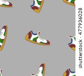vector ranning shoes seamless... | Shutterstock .eps vector #477936028