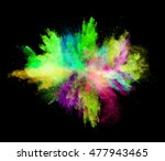 explosion of colored powder ... | Shutterstock . vector #477943465