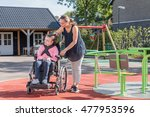 a disabled child in a... | Shutterstock . vector #477953596