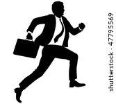 Businessman With Briefcase Run...