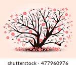 decorative beautiful cherry... | Shutterstock . vector #477960976