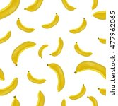 seamless picture with bananas | Shutterstock . vector #477962065