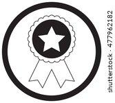 badge star monochrome. star...   Shutterstock .eps vector #477962182