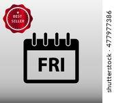 calendar friday vector icon...
