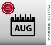 calendar august vector icon...