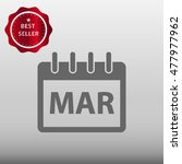 calendar march vector icon...