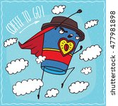 heroic anthropomorphic... | Shutterstock .eps vector #477981898