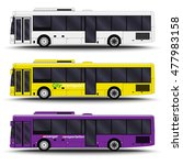 city transport. bus side view | Shutterstock .eps vector #477983158