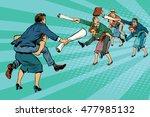 business battle gender... | Shutterstock .eps vector #477985132