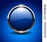 Shiny Button Blue Glossy...