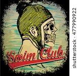 skull t shirt graphic design | Shutterstock . vector #477990922